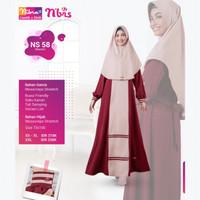 Baju Gamis Syari Nibras NS 58 - Delia Hijab