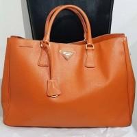 [Pre-Loved] Prada Saffiano Lux Bag Orange Papaya (100% Authentic)
