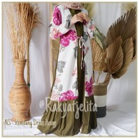 Fashion Wanita Gamis Dress Kembang Warna Hijau Army / Terupdate/ Murah