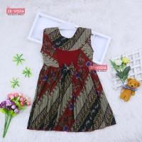 Dress Batik uk Bayi - 3 Tahun / Dres Model Baju Anak Perempuan Murah