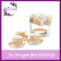 Paling Terlaris Vicenza Tea Set Cangkir+Lepek 13 Pcs B671 Terbaru