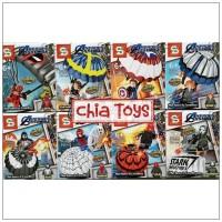 Lego Avengers Parasut The Hero Is Landing Set 8 Merk SY 1367
