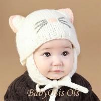Knitted Bonnet Hat Baby Topi Kupluk Anak Bayi Rajut Imut