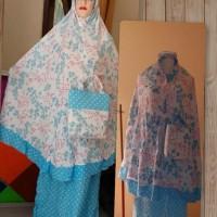 Best Sale Mukena Couple Rayon Mayda Ibu N Anak - Biru Muda