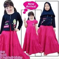Best Sale Gamis Cardigan Muslim Anak Perempuan / Dress Muslim Anak