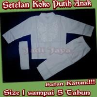 Best Sale Setelan Koko Putih Anak Busana Muslin Putih Anak Size1-5