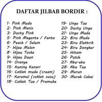 Best Sale Jilbab Instan Bordir Anak Sekolah Serut Bahan Kaos - Hitam