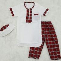 Best Sale Baju Muslim Koko Anak Bayi Laki Laki Pakistan Set Peci