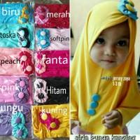 Best Sale Jilbab Bayi Bunga Kancing/Hijab Bayi/Kerudung Bayi 1-3 Th
