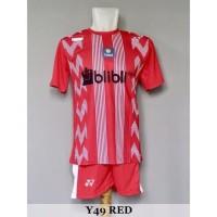 Baju Olahraga Kaos Badminton Setelan Bulutangkis Yonex Y49 Red
