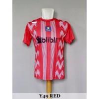 Baju Olahraga Kaos Badminton Jersey Bulutangkis Y49 Red