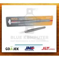 Pinset Vetus Curved Lengkung Bengkok Runcing Lancip Vape Tweezer Coil