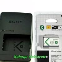 paket Charger dan baterai Handycam Sony CX-405