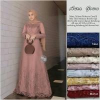 Maxi aura gown / gamis modern / gamis brokat / dress aura gown