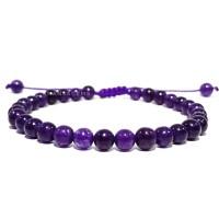 Gelang tasbih batu giok ungu kristal like kecubung diameter 6 mm