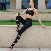 Bandage Sport Leggings / Yoga Pants Cropped Pants Sportswear Fitness