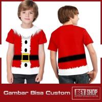 Kaos Baju Anak Fullprint Merry Christmas Santa Claus Suit 001