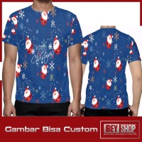 Kaos T-shirt Pria Fullprint Merry Christmas 001