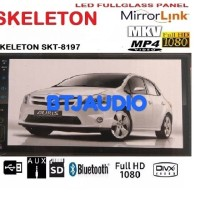 HEAD UNIT DOUBLE DIN SKELETON MIRRORLINK ANDROID, USB MOVIE, FULLGLASS