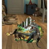 Stiker Lantai / Dinding / Wall Sticker (3D): Era Dinosaurus