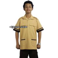 Baju Seragam Sekolah Coklat Pramuka Siaga Lengan Pendek. Siswa SD