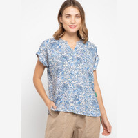 POINT ONE - VICTONIA Floral Blouse