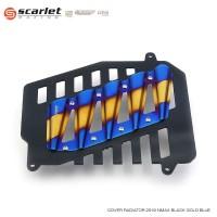 SCARLET RACING cover radiator n max nmax 2519 Black Gold Blue