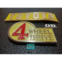 Emblem Belakang Toyota Hardtop 2F Land Cruiser FJ BJ