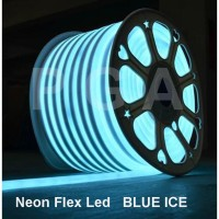 Lampu Neon Flex LED Selang Flexible Sign Strip Fleksibel BLUE ICE