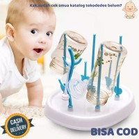 Rak Botol Drying Rack Baby Baby Bottle Pengering Tirisan Botol Susu