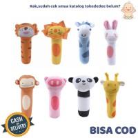 mainan tangan bayi bunyi toet baby hand stick soft toys