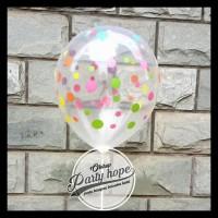 Terlaris!! Balon Latex Polkadot Transparan / Balon Polkadot Transparan