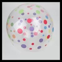Terlaris!! Balon Latex Polkadot Transparan