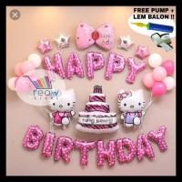 Terlaris!! Paket Dekorasi Balon Ulang Tahun / Happy Birthday Tema