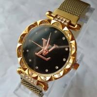 Jam tangan wanita magnet LV permata kode 8w