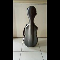Case Biola Violin Case Kotak Biola no Bow Fiber Hitam