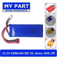 Baterai 11.1v 2200mah 3S 30C MJX - Syma Drone - RC Mobil Lipo Battery