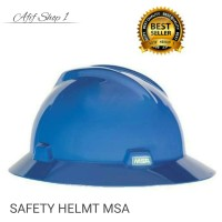 Helm Safety / Safety Helmet / MSA V-Gard Full Brim Original - murah
