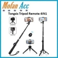 Tongsis Tripod Remote Bluetooth 4IN1 Universal Phone Holder & Gopro