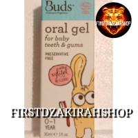 buds organic oral gel for baby teeth & gum 0-1 year 30ml
