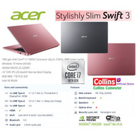 LAPTOP ACER SWIFT 3 SF314-57G- I7-1065G7 8GB SSD 1TB MX250 2GB FHD W10