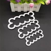 3 pcs cetakan fondant bunga mawar alat dekorasi kue iching gum paste