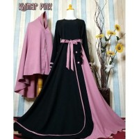 gamis khimar set screpe busui friendly