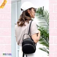 Tas Ransel Wanita Import Backpack Multifungsi Tas Punggung Mini / ORI - Purple