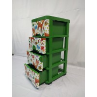 Lemari plastik/ lemari laci/ lemari plastik miami milaci susun 4 warna