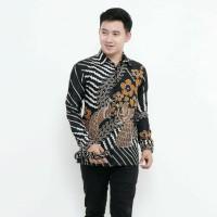 Kemeja Batik Pria Lengan Panjang BR Baju Batik Pria Kemeja Batik Murah