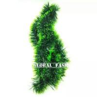 slinger hijau daun / hiasan tinsel pohon natal / dekorasi natal