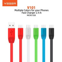 VEGER Kabel Date Cable USB Micro 2.4A V101 Quick Charge Fast Charging