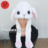 Topi Kelinci + Lampu / Dance Rabbit Hat / Topi Kelinci + Led Import