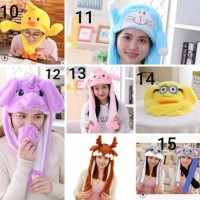 Topi Stitch Dancing Pig Ear Bunny Hat Kpop Moving Unicorn Nayeon - The